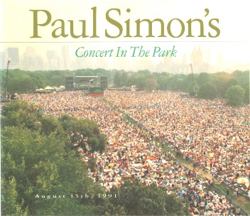 Concert in the park - August 15th, 1991 - PAUL SIMON