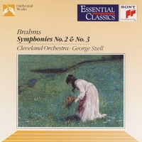Symphonies no.2 & no.3 - Johannes BRAHMS  (George Szell \ Cleveland orchestra)