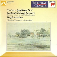 Symphony no.4-Academic festival overture, op,80-Tragic overture, op.81 - Johannes BRAHMS  (George Szell \ Cleveland orchestra)