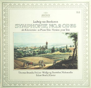 Symphony no.2 op.36 as piano trio+Piano sonata in G major - Ludwig van BEETHOVEN \ Joseph HAYDN (Thomas Brandis, Sigbert Ueberschaer, Wolfgang Boettecher)