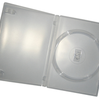 Transparent DVD library box
