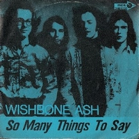 So many things to say \ Rock and roll widow - WISHBONE ASH