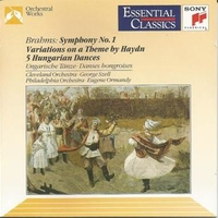 Symphony No.1 · Variations On A Theme By Haydn · 5 Hungarian Dances - Johannes BRAHMS  (George Szell \ Cleveland orchestra)